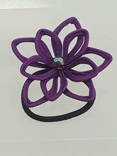 Looped Flower Ponytail Holder
