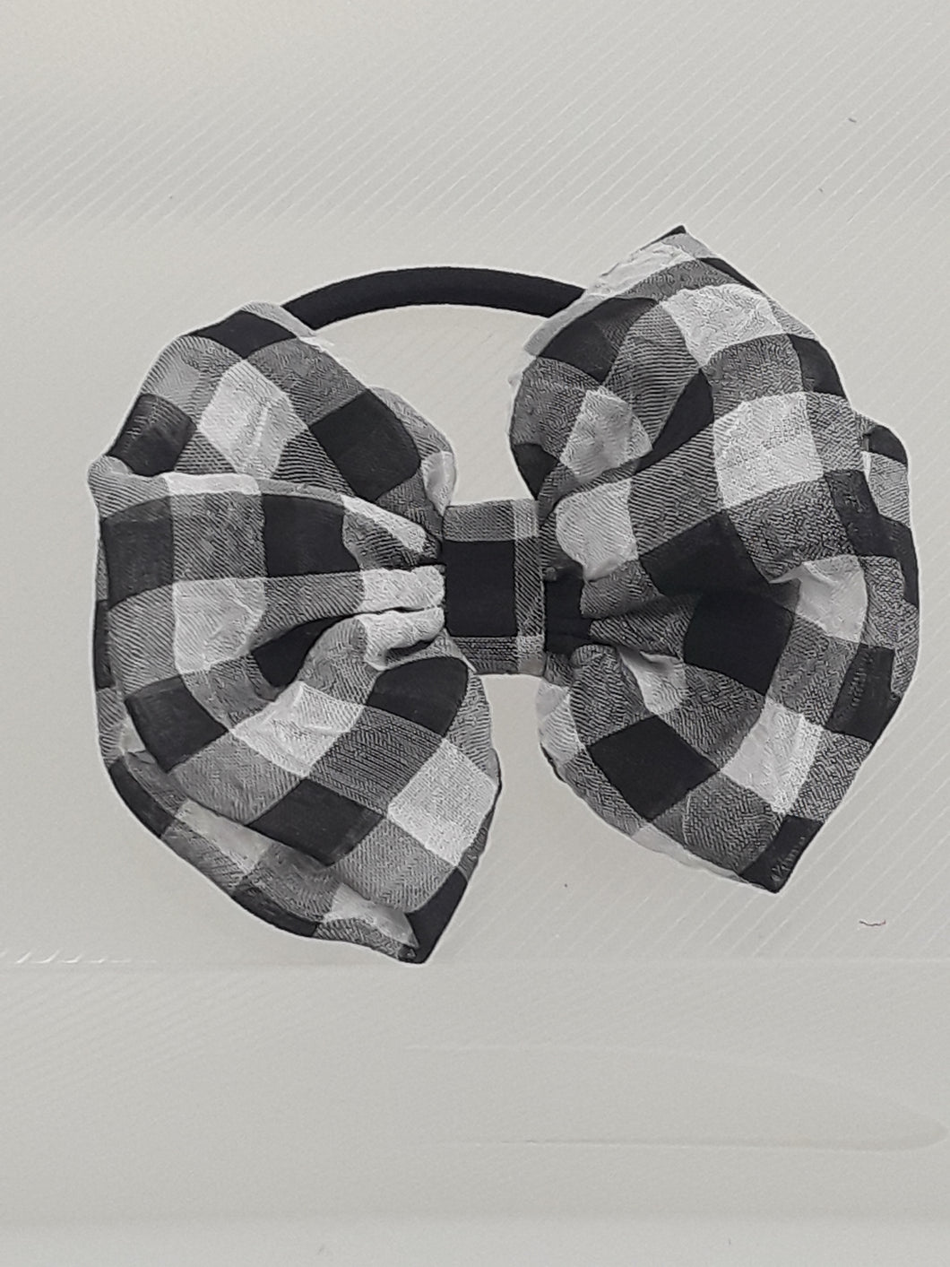 Small Buffalo Checkered Bow Ponytail Holder
