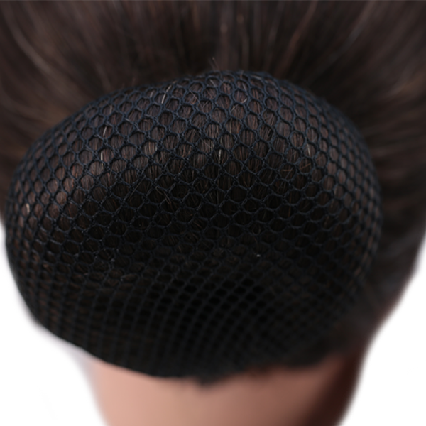 Bun Cover Heavy Netting Black