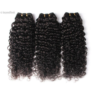 15% OFF- Peruvian Deep Curly Hair 1Pc 100% Human Hair Natural Color 1b