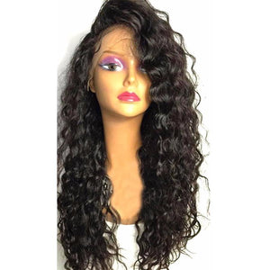 Water Wave Lace Front Human Hair Wigs