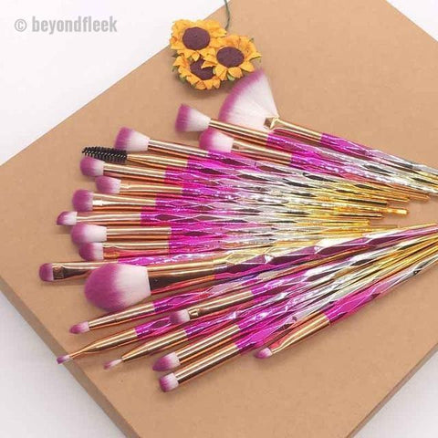20pcs Pink Diamond Beauty Contour Makeup Brush Set