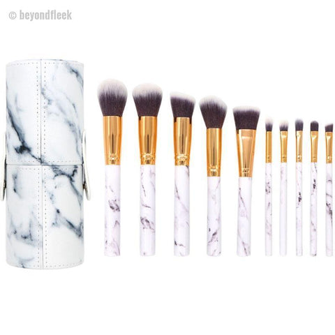 10Pcs/Set Marble Professional Makeup Brushes