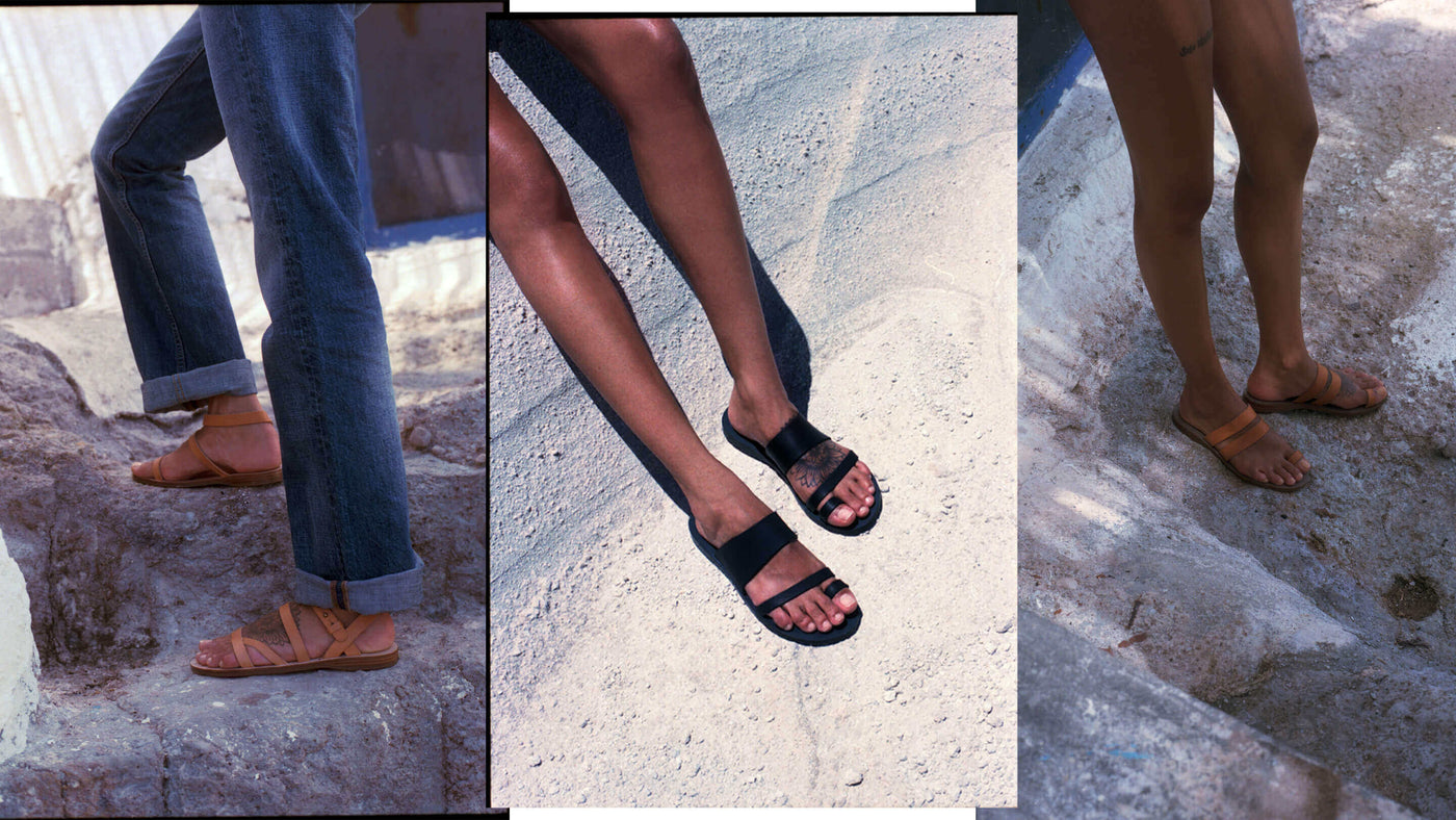 our bestselling Greek leather sandals, handmade