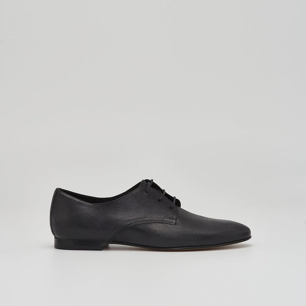 leather derby oxford in black
