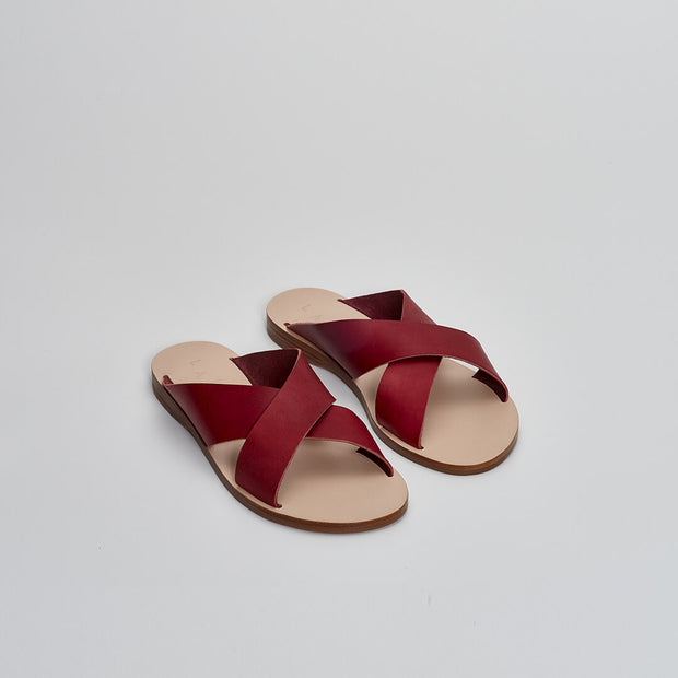 leather sandal slides, greek sandals