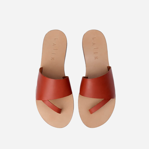 The Perfect Slip-On Leather Greek Sandal