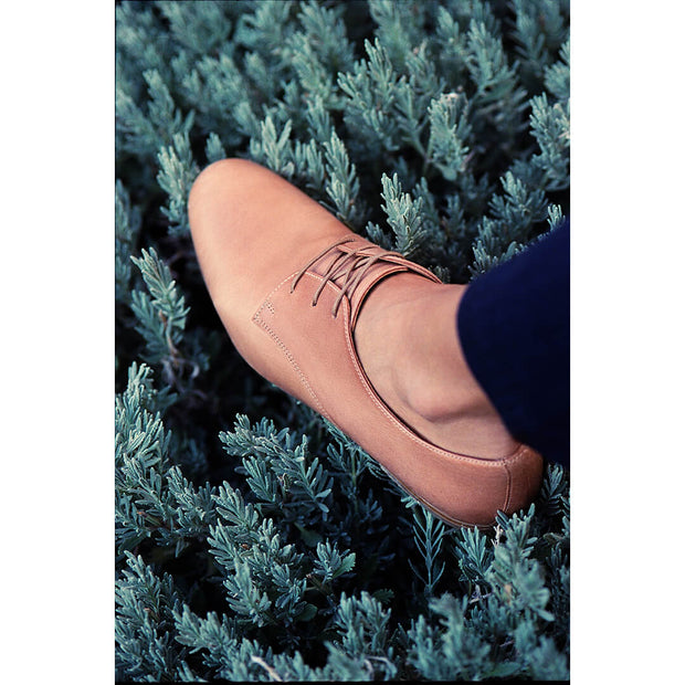 natural leather derby oxford shoe