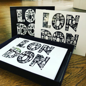 London Icons greeting card set in box