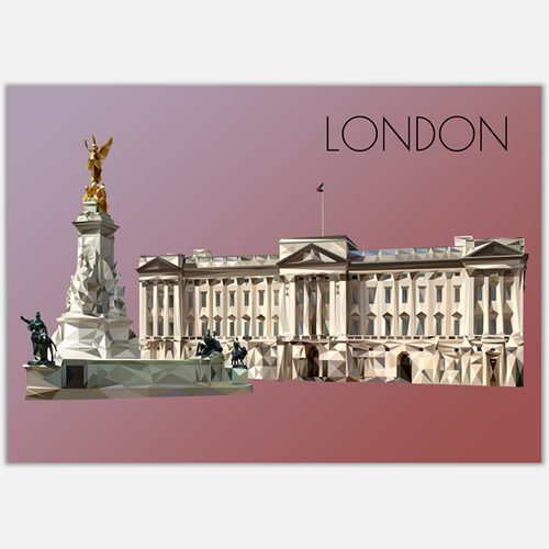 Buckingham Palace, London Postcard, made in the UK, Authentik London Souvenirs and Gifts