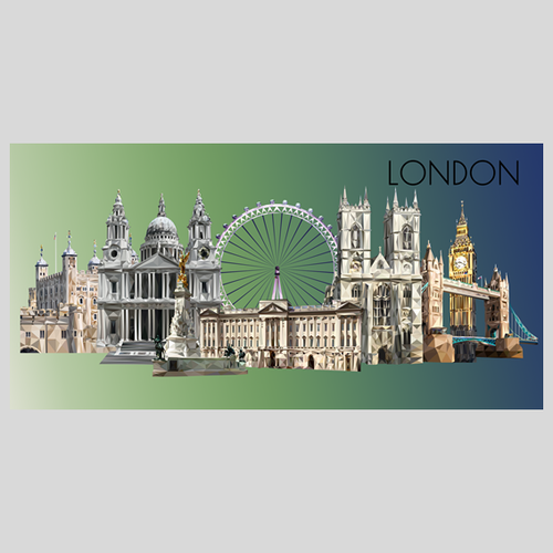 Landmarks of London Postcard, Authentik London Souvenirs and Gifts
