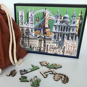 London premium laser cut wooden Puzzle, made in Britain