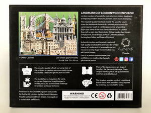 Landmarks of London Wooden Puzzle, large