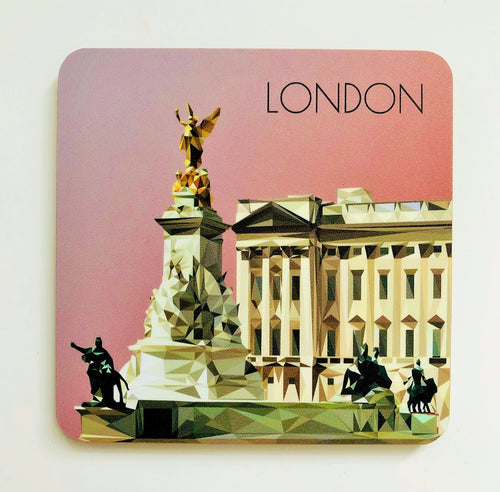 Buckingham Palace, London 10cm Square Coaster