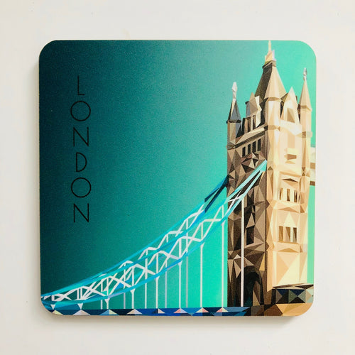 Tower Bridge Side 10cm Square Coaster