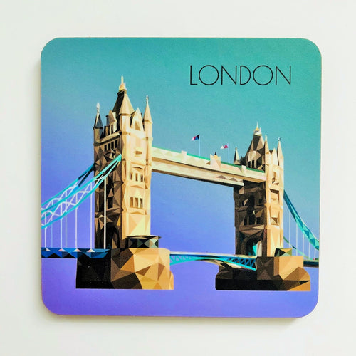Tower Bridge Square 10cm Coaster