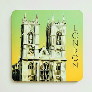Westminster Abbey, London 10cm Square Coaster