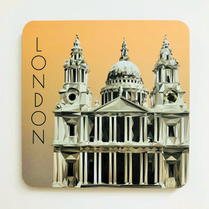 St Paul's Cathedral 10cm Square Coaster
