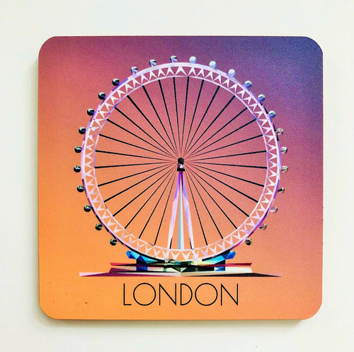 London Eye 10cm Square Coaster