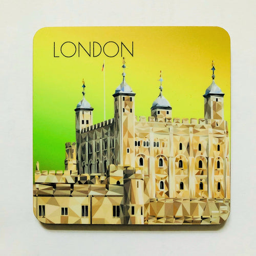 Tower of London 10cm Square Coaster