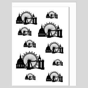 London Icons Greeting Card, printed in the UK Authentik London Souvenirs and Gifts