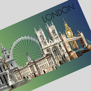 Landmarks of London Postcard, Authentik London Souvenirs and Gifts made in Britain