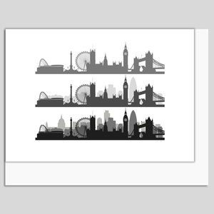 London skyline greeting card Made in Britain www.authentiklondon.com