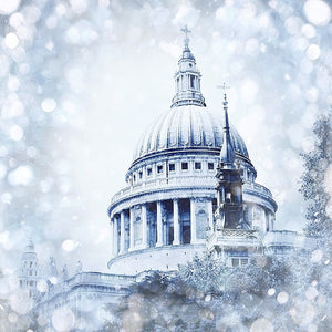 St Paul's Cathedral Christmas card, St Paul's Cathedral London made in Britain cards, London cards made in Britain www.authentiklondon.com
