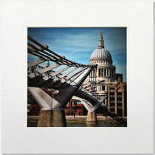 St Paul's Cathedral and the Millennium Bridge Square print