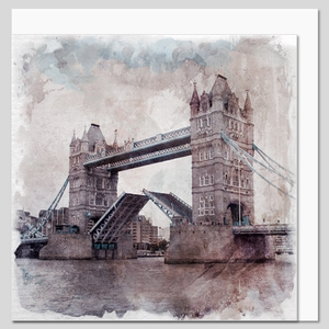 Tower Bridge, London, watercolour greeting card