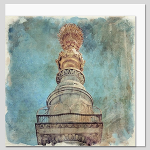 The Monument, City of London, watercolour greeting card