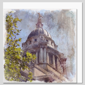 The Old Bailey, City of London, watercolour greeting card