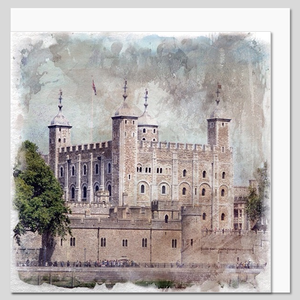 Tower of London, watercolour greeting card