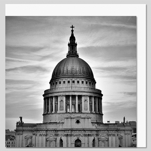 St Paul's Cathedral Dome Black and White Greeting Card