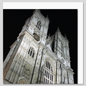 Westminster Abbey at Night Greeting Card