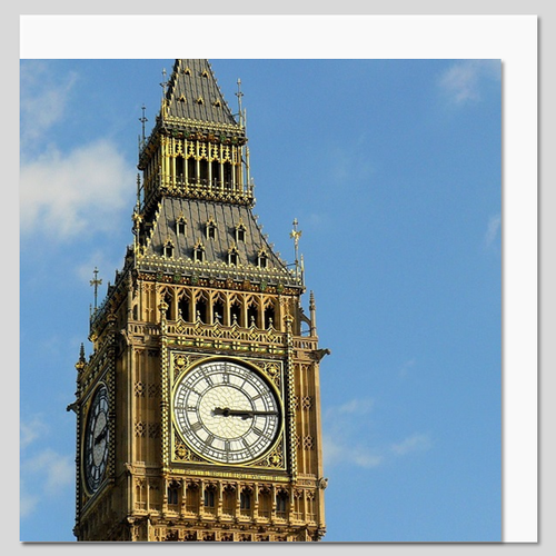 Houses of Parliament Clock Tower and Big Ben, London Greeting Card