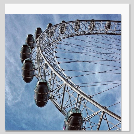 London Eye Capsules, London Greeting Card