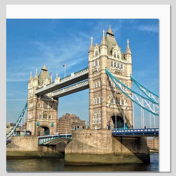 Tower Bridge side view, London Greeting Card