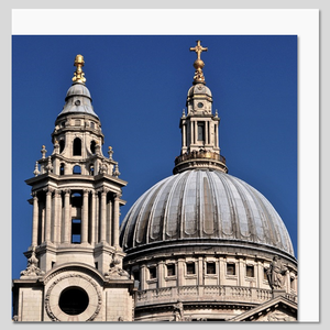 St Paul's Cathedral Front View Square Greeting Card