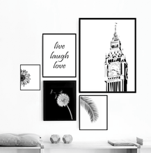 Geometric Sketch Premium Print - Clock Tower with Big Ben, London
