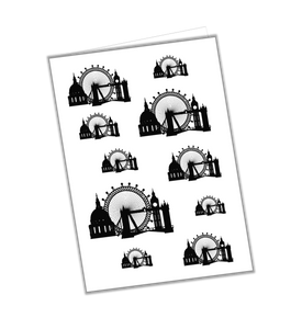 London Skyline Icons Greeting Card