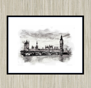 Houses of Parliament, London Print