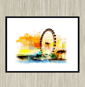 The London Eye Print