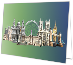 Landmarks of London Greeting Card with envelope