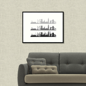 London Skyline Collage Print