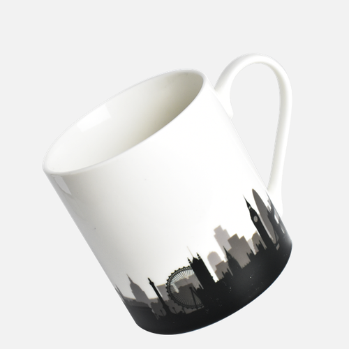 London Skyline bone china mug in presentation box, made in the UK. Authentik London gifts and souvenirs authentiklondon.com