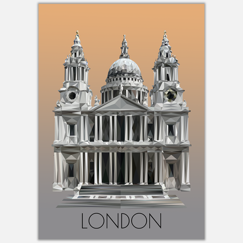 St Paul's Cathedral, London Postcard, made in the UK, Authentik London Souvenirs and Gifts