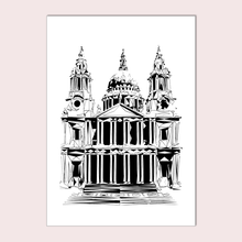Geometric Sketch Print - St Paul's Cathedral, London