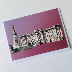 Buckingham Palace, London greeting card with envelope