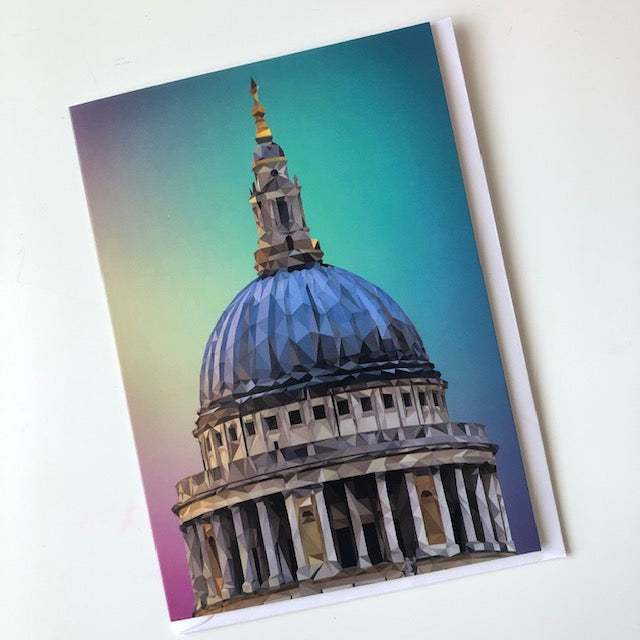 St Paul's Cathedral, London greeting card with envelope